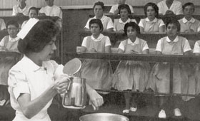 Nursing class in the sixties